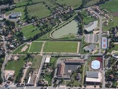 Vue aérienne du complexe sportif